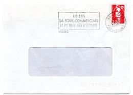 PAS De CALAIS - Dépt N° 62 = LILLERS 1990 = Flamme Type II = SECAP = FOIRE COMMERCIALE - Annullamenti Meccanici (pubblicitari)