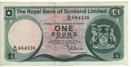 SCOTLAND  1 Pound  The Royal Bank Of Scotland  P336a  Dated 5 January 1972   Edinburgh Castle - 1 Pound
