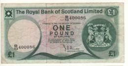 SCOTLAND  1 Pound  The Royal Bank Of Scotland  P336a  Dated 2 May, 1978   Edinburgh Castle - 1 Pound