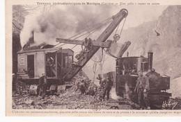 Marege Construction Du Barage De MAREGE Tres Rare Pelle  A Vapeur - Altri Comuni