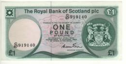 SCOTLAND  1 Pound  The Royal Bank Of Scotland  P341b   Dated 4 January, 1984   Edinburgh Castle - 1 Pound