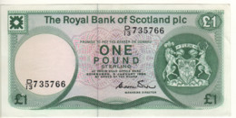 SCOTLAND  1 Pound  The Royal Bank Of Scotland  P341b   Dated 3 January, 1985   Edinburgh Castle - 1 Pound