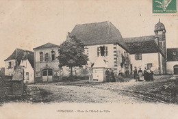 CPA  64 CONCHEZ PLACE HOTEL DE VILLE ANIMEE - Non Classés