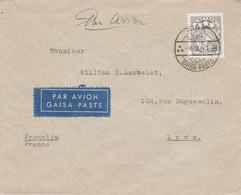LITUANIE SEUL SUR LETTRE AVION DE RIGA POUR LA FRANCE 1940 - Lithuania