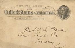 Entier Postal Vers Crowley  ,La   RV - Other
