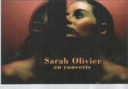 F118 / CARTE Publicitaire Advertising Card Cart' Com CPM Cartcom JEMMAPES SARAH OLIVIER En Concert SPETACLE - Muziek En Musicus