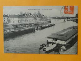 PONT SAINTE MAXENCE -- Quai De Sarron - Péniches Et Remorqueur Vapeur - Lavoir - Embarcaciones