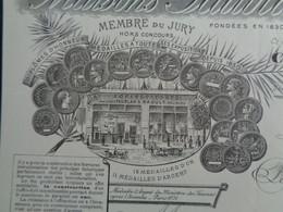 FACTURE - Dpt DE LA SEINE - PARIS 2ème - 1896 - COFFRES-FORTS : MAISONS PAUBLAN & RAOUT, 62 BLD DE STRASBOURG - Unclassified