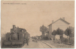 79 SAINT-HILAIRE-la-PALUD La Gare Avec Train Gros Plan (carte Très Peu Courante ) TOP - Other Municipalities
