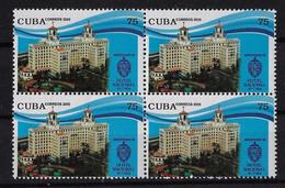 CUBA 2020. ANIVERSARIO 90 DEL HOTEL NACIONAL DE CUBA. BLOQUE DE CUATRO. MNH - Nuevos