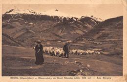 BEUIL - Observatoire Du Mont Mounier - Les Bergers - Moutons - Tirage Sépia Voyagé 1934 - Sonstige Gemeinden