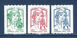 ⭐ France - Adhésif - Autoadhésif - Yt N° 862 à 864 ** - Neuf Sans Charnière - 2013 ⭐ - Adhésifs (autocollants)