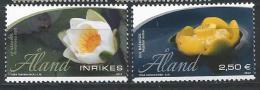 Aland 2013 N°377/378 Neufs Nénuphares - Aland
