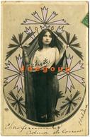 Colored Postcard Art Portrait Young Woman 1903 Havana Cuba Postmark - Women