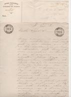 1895 Serviços Telegraphicos Do Porto * Carimbo Vila Nova De Gaya * Carta Manuscrita * 2 Folhas A4 - Covers & Documents