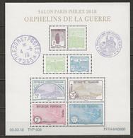FRANCE MNH ** F5226-5233 Bloc Orphelins De Guerre Salon Philex Paris 2018 - Unused Stamps