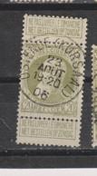 COB 75 Centraal Gestempeld Oblitération Centrale OSTENDE (KURSAAL) - 1905 Breiter Bart