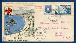 ⭐ France - Premier Jour - FDC - Nice - 1955 ⭐ - 1950-1959
