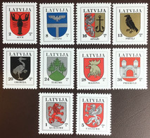 Latvia 1996 Coat Of Arms Set MNH - Lettonie