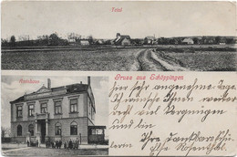 Gruß Aus Schöppingen, Amtshaus Und Total, 1910 Gel. - Non Classés