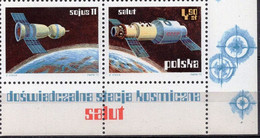Poland 1973 1 V + Label MNH  Space Exploration - Salut - Europe