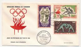 CAMEROUN - FDC - Jeux Olympiques De Tokyo - Yaoundé - 10 Octobre 1964 - Cameroun (1960-...)