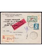 PERIODE 1900 à 1940 - LSC - N°181, 207 S/ Recom. - Càd New-York Au Havre 27/8/29 + Griffe Catapulte Ile De France - Other