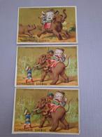 CHROMOS LIEBIG - D. HUTINET - VOYAGE SUR DOS D'ELEPHANT - Liebig