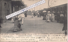 """CAPPELLEN-KAPELLEN """"AANKOMST-L'ARRIVEE A CAPPELLEN-PERRON-DAMES"""" HOELEN N°424 UITGIFTE 1904 TYPE 3 - Kapellen"""