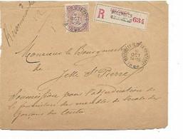 SH 0934. N° 61 Càd MOLENBEEK (R. DE LA PRINCESSE) 9 OCT 1899 S/L. RECOMMANDEE V. JETTE - Au Dos C. Ellipt. BXL(RECEPTION - 1893-1900 Thin Beard