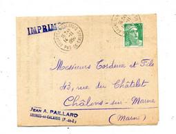 Lettre Cachet Adres En  Sur Gandon Tarif Pomme De Trre Etc - Matasellos Manuales