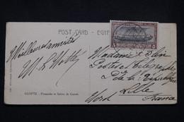 EGYPTE - Oblitération Du Congrès International De Navigation Au Caire Sur Carte Postale En 1926 Pour Lille - L 99238 - Covers & Documents