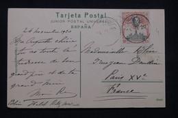 ESPAGNE- Oblitération Du Congrès De L 'UPU  Sur Carte Postale En 1920 Pour Paris - L 99239 - Brieven En Documenten