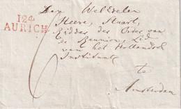 FRANCE DEPARTEMENT CONQUIS LETTRE DE AURICH SANS TEXTE NI DATE - 1792-1815: Conquered Departments