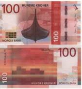 NORWAY  New Attractive  100 Kr  2017 (dated 2016)  P54   UNC - Norway