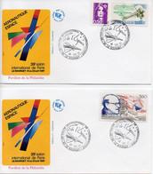 2 Enveloppes 39e Salon International De Paris. Aéronautique Et Espace Le Bourget 16 Et 13.06.1991. Timbre Oblitéré - Flugzeuge