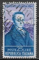 Italy 1955. Scott #667 (U) Silvio Pellico (1789-1854), Dramatist ** Complete Issue - 1946-60: Afgestempeld