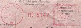 ANNULLO A TARGHETTA ROSSA FIRENZE 30/8/46 - L.4,00 Fasci Scarpellati Su R.R. - 1946-60: Marcophilia