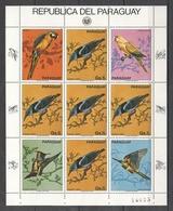 EC121 1983 PARAGUAY FAUNA BIRDS MICHEL 30 EURO 1KB MNH - Altri