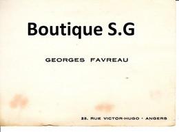 Carte De Visite Georges Favreau Angers - Visiting Cards