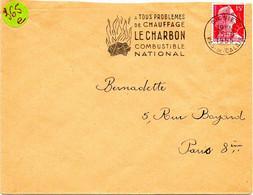 PAS De CALAIS - Dépt N° 62 = OIGNIES 1955 = FLAMME SECAP  Illustrée ' CHARBON / COMBUSTIBLE NATIONAL ' - Annullamenti Meccanici (pubblicitari)