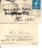 Carte De Visite Rene Lemoine Inspecteur Enseignement Primaire Angers Chevalier Legion D Honneur Favreau Segre 1925 - Visiting Cards
