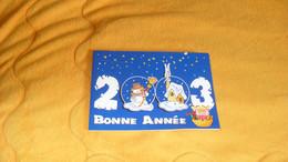 CARTE POSTALE 2 VOLETS PHILATELIQUE BONNE ET HEUREUSE ANNEE 2003..CACHET IMPRIMERIE DES TIMBRES PERIGUEUX - Documents Of Postal Services