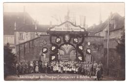 BITCHE - La Réception Des Troupes Françaises 1918 (carte Photo Animée) - Bitche
