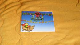 CARTE POSTALE 2 VOLETS PHILATELIQUE BONNE ET HEUREUSE ANNEE 2003..CACHETS MEILLEURS VOEUX PARIS + TIMBRE - Documents Of Postal Services