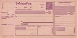 "1922 - HERMES - CARTE MANDAT POSTAL ""POSTANWEISUNG"" Mi 49 NEUVE - Ganzsachen"