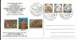 1984 - Cencenighe Agordino (BL) - Mostra Antolio Ligabue - Annullo Speciale Ed Erinnofili - 1981-90: Marcofilie