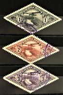 COSTA RICA 1937 - Canceled - Sc# C28-C30 - Air Mail - Costa Rica