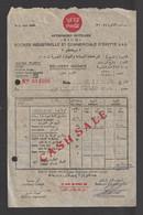 Egypt - 1953 - Vintage Invoice - ( Coca Cola - Delivery Invoice ) - Altri
