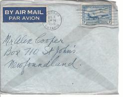 19569) Canada Air Mail Windsor Postmark Cancel 1945 - Brieven En Documenten